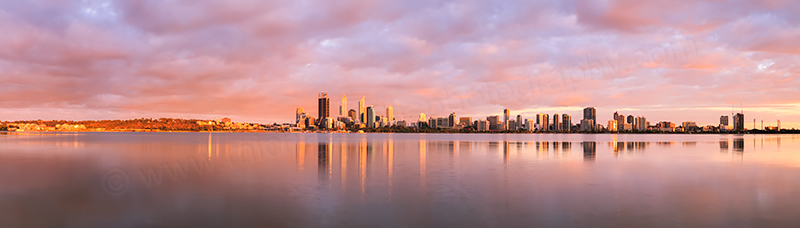 Perth and the Swan River at Sunrise, 2nd January 2014