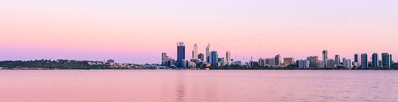 Perth and the Swan River at Sunrise, 6th January 2014