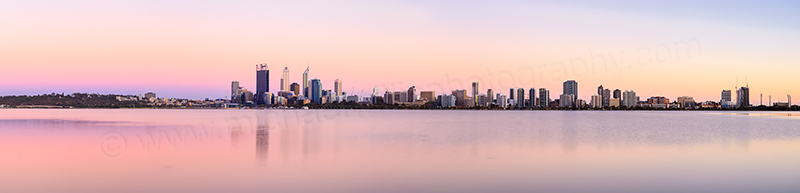 Perth and the Swan River at Sunrise, 9th January 2014