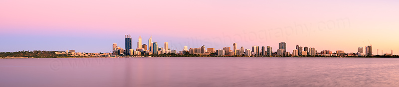 Perth and the Swan River at Sunrise, 11th January 2014