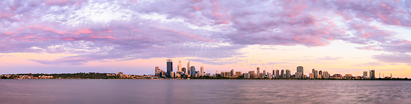 Perth and the Swan River at Sunrise, 12th January 2014