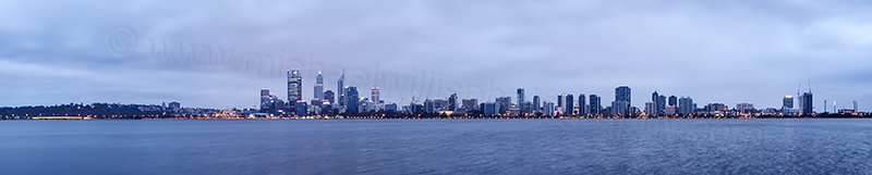 Perth and the Swan River at Sunrise, 13th January 2014