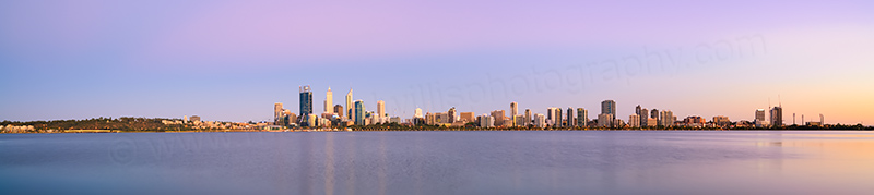 Perth and the Swan River at Sunrise, 14th January 2014