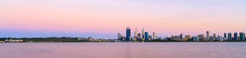Perth and the Swan River at Sunrise, 20th January 2014