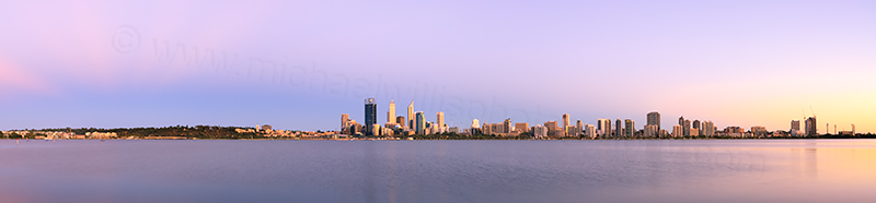 Perth and the Swan River at Sunrise, 23rd January 2014