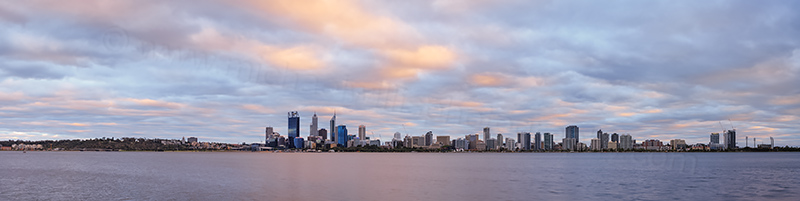 Perth and the Swan River at Sunrise, 24th January 2014