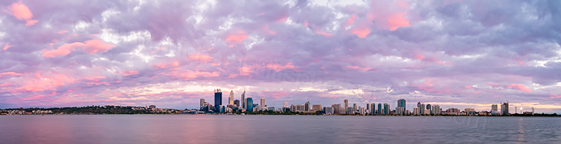 Perth and the Swan River at Sunrise, 25th January 2014