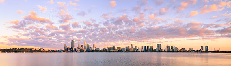 Perth and the Swan River at Sunrise, 26th January 2014