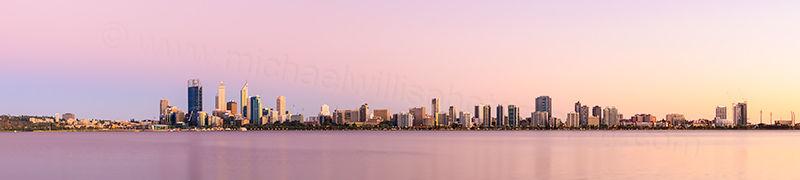 Perth and the Swan River at Sunrise, 9th February 2014