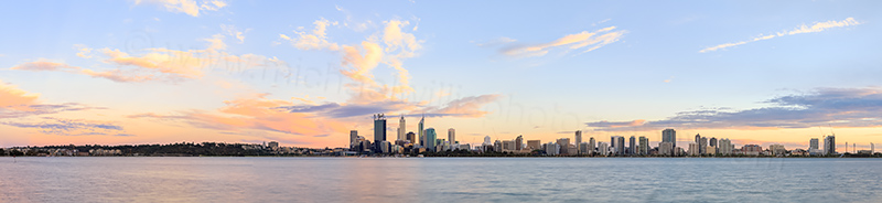 Perth and the Swan River at Sunrise, 22nd February 2014