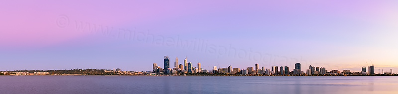 Perth and the Swan River at Sunrise, 6th March 2014