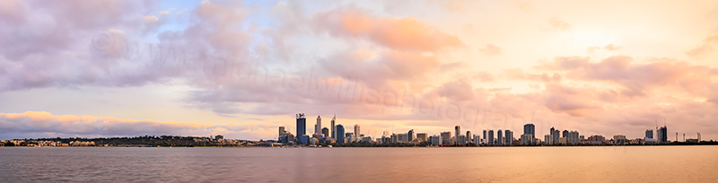 Perth and the Swan River at Sunrise, 8th March 2014