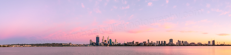Perth and the Swan River at Sunrise, 10th March 2014