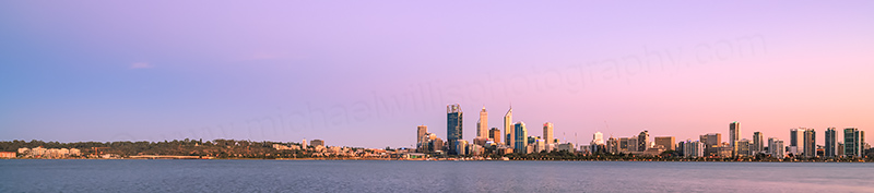 Perth and the Swan River at Sunrise, 11th March 2014
