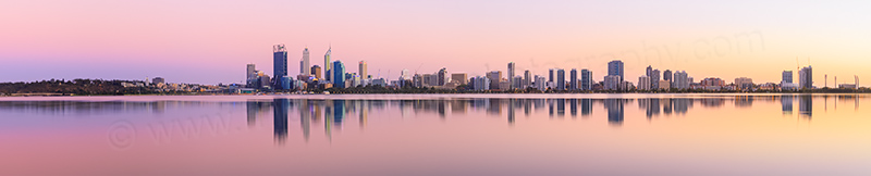 Perth and the Swan River at Sunrise, 15th March 2014
