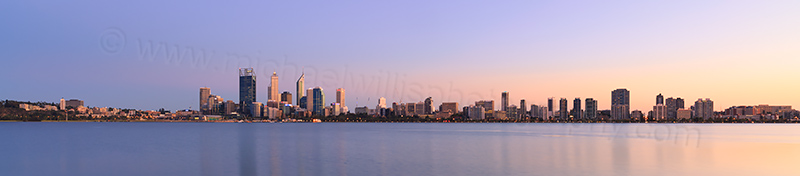 Perth and the Swan River at Sunrise, 18th March 2014