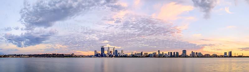 Perth and the Swan River at Sunrise, 22nd March 2014