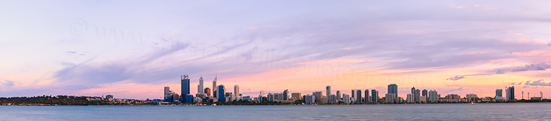 Perth and the Swan River at Sunrise, 23rd March 2014
