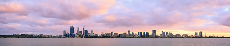 Perth and the Swan River at Sunrise, 30th March 2014