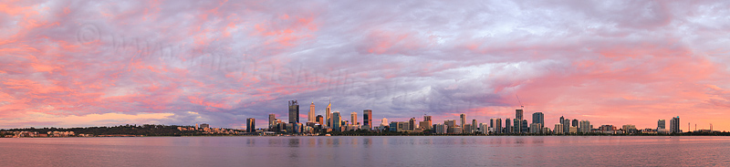 Perth and the Swan River at Sunrise, 13th February 2017