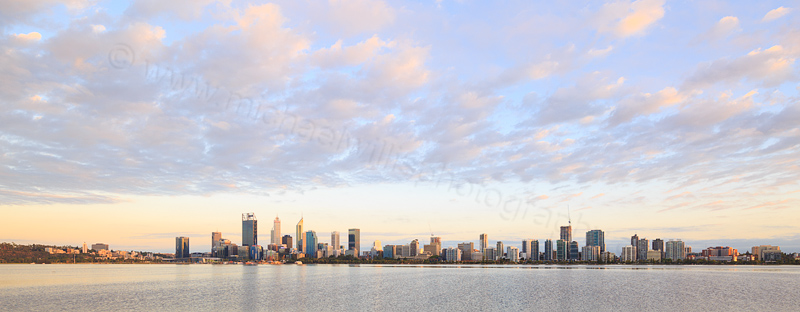 Perth and the Swan River at Sunrise, 15th February 2017
