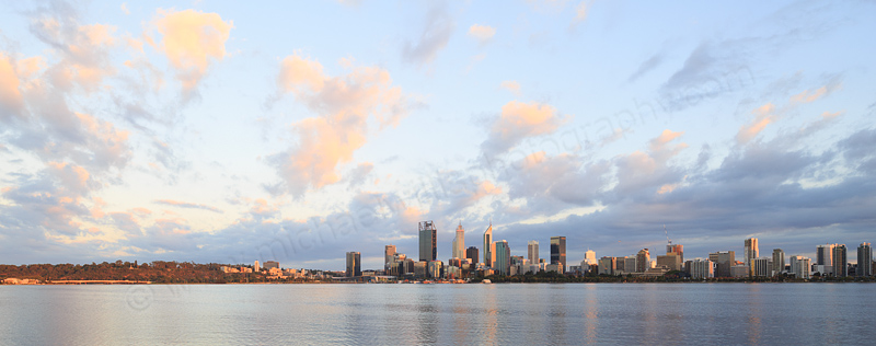 Perth and the Swan River at Sunrise, 16th February 2017