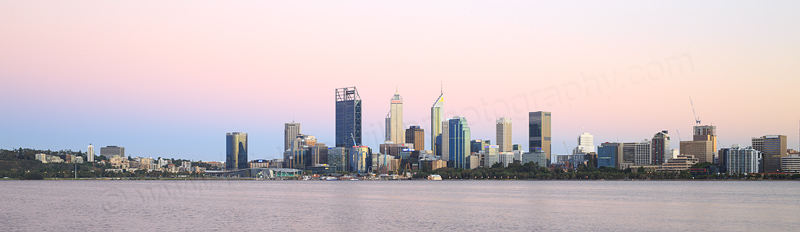 Perth and the Swan River at Sunrise, 17th February 2017