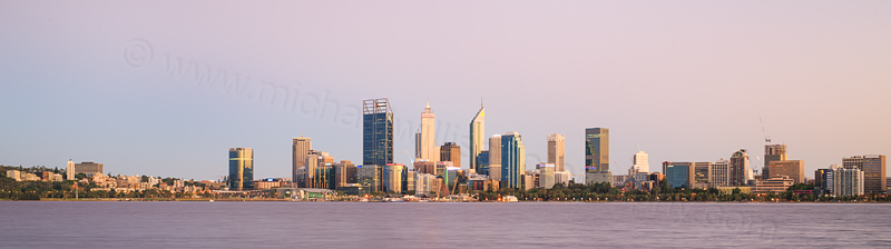 Perth and the Swan River at Sunrise, 18th February 2017