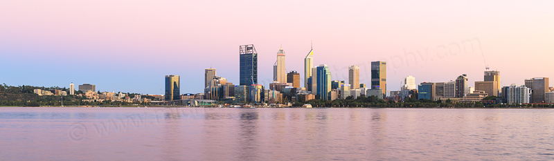 Perth and the Swan River at Sunrise, 25th February 2017