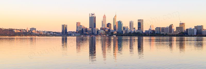 Perth and the Swan River at Sunrise, 26th February 2017