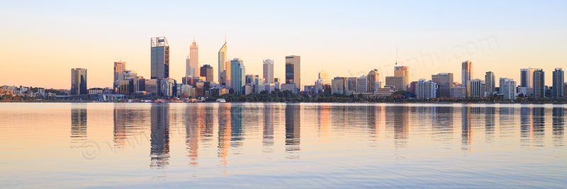Perth and the Swan River at Sunrise, 27th February 2017