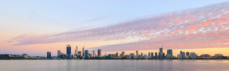Perth and the Swan River at Sunrise, 28th February 2017