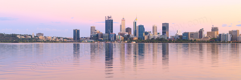 Perth and the Swan River at Sunrise, 1st March 2017