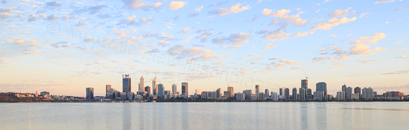 Perth and the Swan River at Sunrise, 4th March 2017