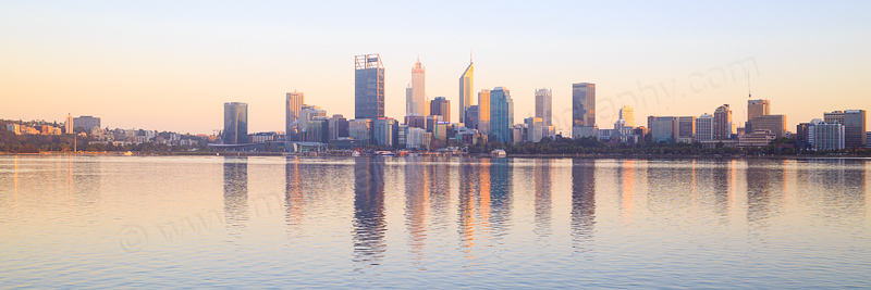 Perth and the Swan River at Sunrise, 7th March 2017