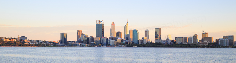 Perth and the Swan River at Sunrise, 9th March 2017
