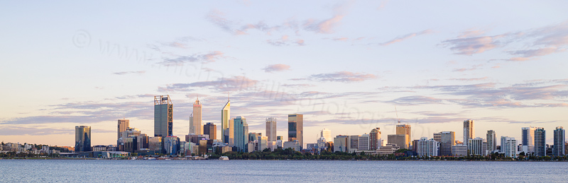 Perth and the Swan River at Sunrise, 10th March 2017