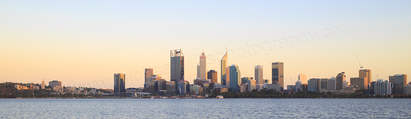 Perth and the Swan River at Sunrise, 16th March 2017