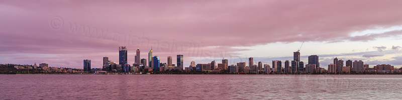 Perth and the Swan River at Sunrise, 18th March 2017