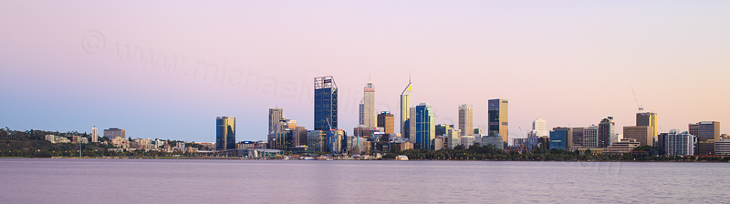 Perth and the Swan River at Sunrise, 20th March 2017