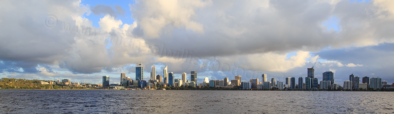 Perth and the Swan River at Sunrise, 22nd March 2017