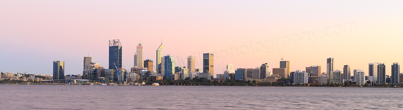 Perth and the Swan River at Sunrise, 30th March 2017