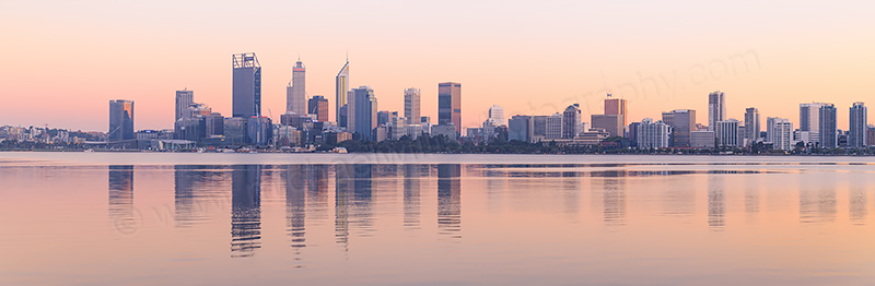 Perth and the Swan River at Sunrise, 5th April 2017