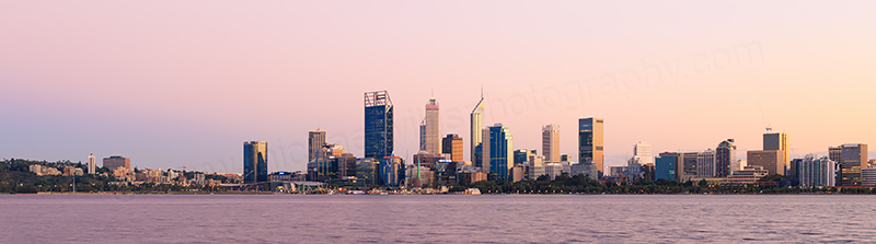 Perth and the Swan River at Sunrise, 11th April 2017