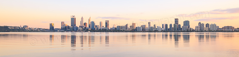 Perth and the Swan River at Sunrise, 13th April 2017