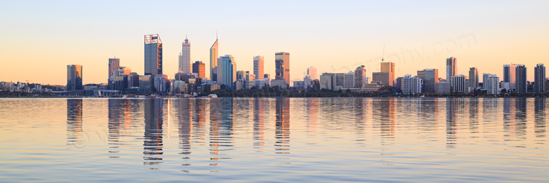 Perth and the Swan River at Sunrise, 19th April 2017