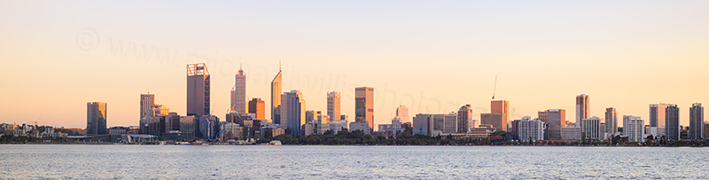 Perth and the Swan River at Sunrise, 4th May 2017