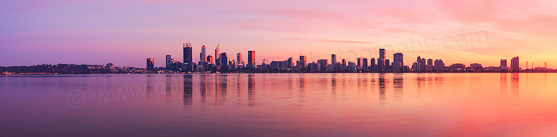 Perth and the Swan River at Sunrise, 6th May 2017