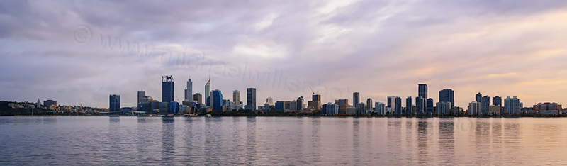Perth and the Swan River at Sunrise, 9th May 2017