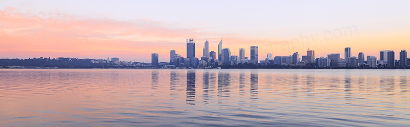 Perth and the Swan River at Sunrise, 12th May 2017